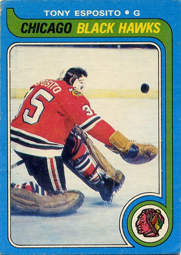 Tony Esposito, Chicago Blackhawks, NHL, hockey cards, O-Pee-Chee, 79-80