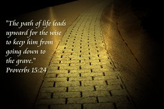 The Path of Life (honey 77) Tags: life light grave death truth god path jesus christian wise bible christianity inspirational scripture righteousness proverbs godly brickroad yellowbrickroad bibleverse inspiks