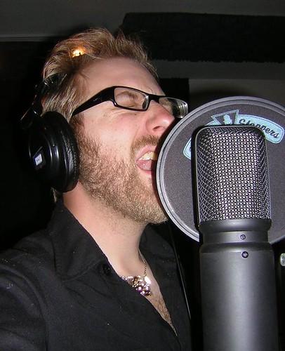 in the studio for the Twistin' Cherry Stems single