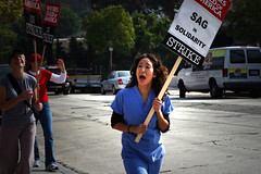 WGA_1st9638 (backstory1) Tags: losangeles workers union solidarity silverlake writers labour strike sag wga organizedlabor graysanatomy sandraoh philiphalprin
