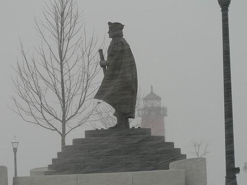 Columbus in the Snow