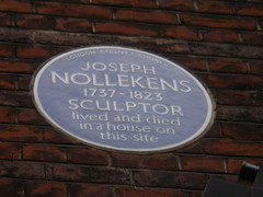 Photo of Joseph Nollekens blue plaque