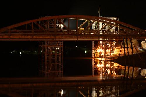 Working under the bridge