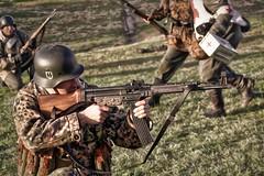 waffen ss re enactor (G.MAI) Tags: army ss helmet battle german ww2 reenactment waffenss reenactor mp44