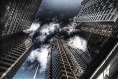 this city will squash you #5 (mugley) Tags: urban architecture clouds buildings construction nikon cityscape fuji skyscrapers grain australia melbourne slide victoria cranes desaturated noise e6 f801s polariser cbw sensia100 gigeresque ltbourkest marlandhouse tokina17mmf35atx communicationshouse 2ev0ev2ev scanned3times filmhdr fujisensiaii100ra microsmoothingdownlow