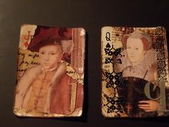 more royalty (kellypuffs) Tags: atc mary tudor edward apc alteredplayingcard
