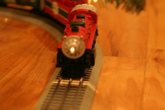 Setting Up the Christmas Train
