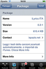 iLyrics 0.2-1 for iphone
