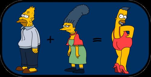 Grandpa and Grandma in Simpsons