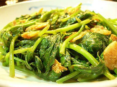 Stir Fried Sweet Potato Shoots with Fermented Beancurd