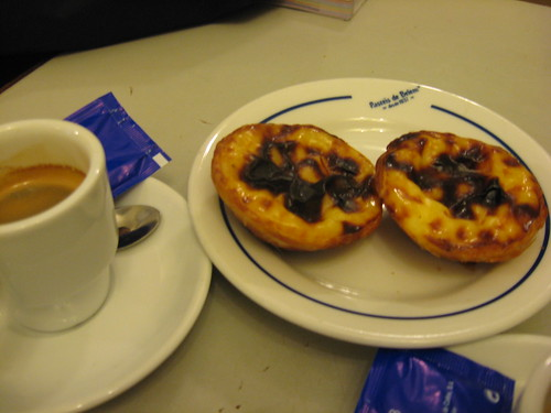 Natas and espresso in Lisbon, Portugal