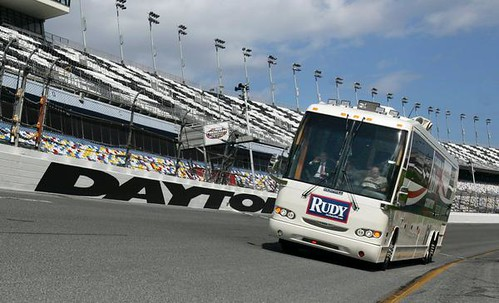Rudy Bus Laps At Daytona