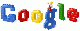 50th Anniversary of the Lego brick on Google