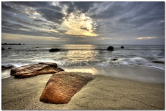 Wave Action (Chee Seong) Tags: beach rock clouds sunrise canon sand bravo action wave malaysia hdr kuantan telukcempedak canon1022mm eow 3exp 400d mywinners platinumphoto flickrplatinum diamondclassphotographer betterthangood theperfectphotographer thegoldendreams