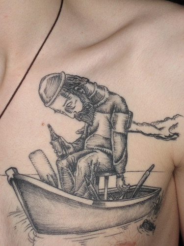 back view · What do you do with a drunken sailor, tattoo