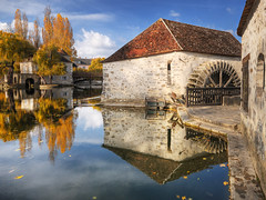 The Mill and The Old House on the River HDR (David Giral | davidgiralphoto.com) Tags: david reflection seine reflections nikon bravo sigma sur d200 1020mm et reflets hdr moret marne loing giral 3xp sigma1020 tthdr davidgiral bratanesque mpdquebec