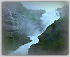 "NORWAY Flm: Waterfall ""Kjofossen""   18.953.17 (Juergen Kurlvink) Tags: ocean travel cruise sea vacation mountain leave water norway train river geotagged gold bay waterfall eau meer wasser europa europe mare ship dragon wasserfall urlaub norwegen award eisenbahn rail railway zug shore northsea rivers vehicle fjord fluss bahn nordsee fiord ferien schiff cruiser flmsbana flm 2007 reise fahrzeug fleuve shoreleave bucht bergbahn juergen ozean kreuzfahrt flsse landgang supershot fleuves seereise golddragon abigfave flmsbahn diamondclassphotographer flickrdiamond 0fav goldsealofquality kurlvink goldstaraward dragongoldaward kurli1 allkindsofbeauty 0allok"