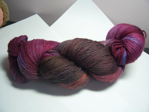 Hand dyed purple/brown