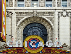 Chicago Theatre Marquee and Window (rjseg1) Tags: chicago sign marquee theatre baroque statestreet katz segal rapp balaban pentaxk10d