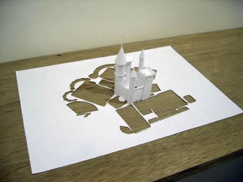 Arte en una hoja de papel....