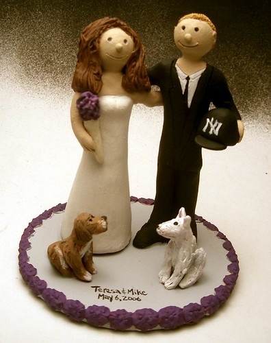Cute Wedding Cake Topper with Pet Dogs originally uploaded by