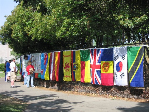 Flags at the 2008 Davis World Cup