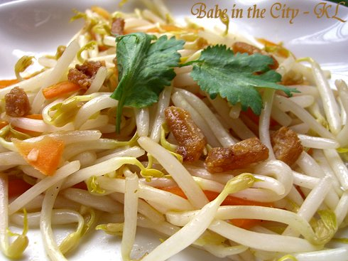 Stir-fried Beansprout With Salted Fish
