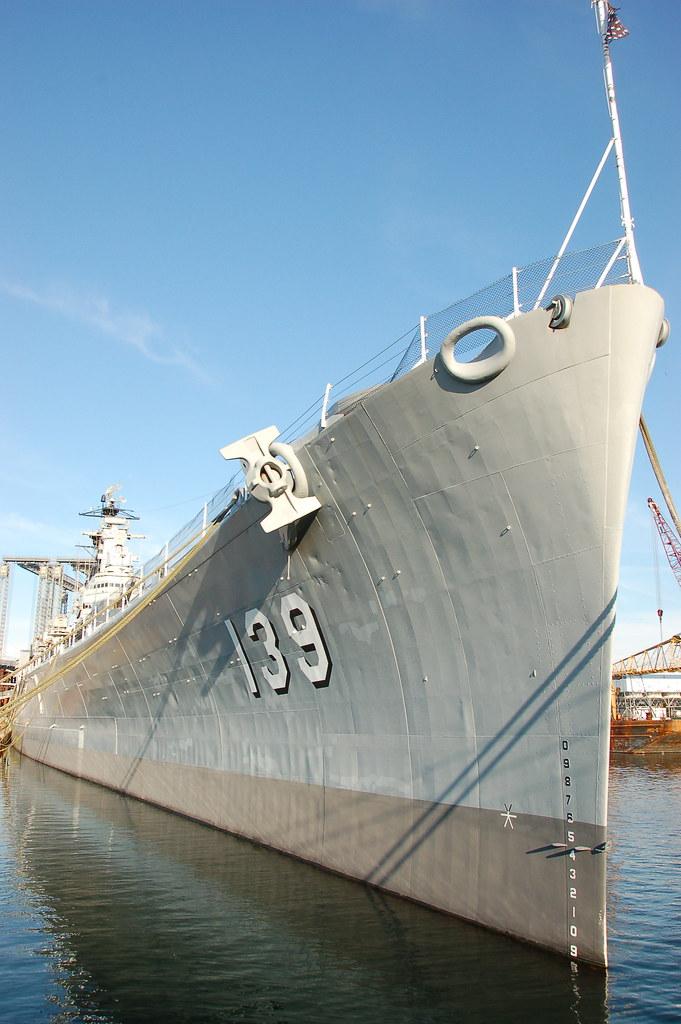 USS Salem park: the bow of the ship