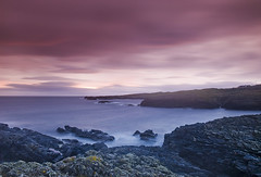 Cold Water II (Jono Renton) Tags: longexposure sea lighthouse colour coast scotland nikon rocks purple islay renton jono gloaming waterscape d80