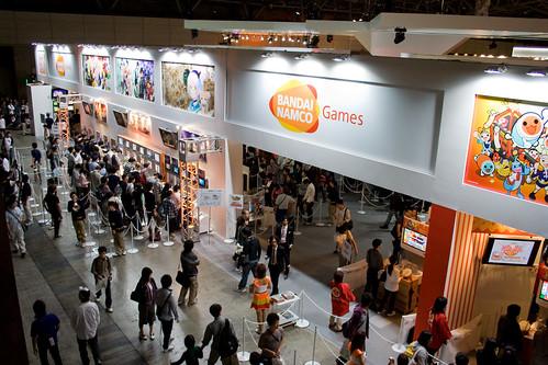 Le stand Bandai/Namco au Tokyo Game Show
