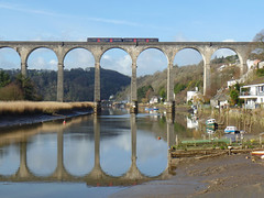150108 Calstock Viaduct (2) (Marky7890) Tags: gwr 150108 class150 sprinter 2p84 calstock railway train cornwall calstockviaduct tamarvalleyline