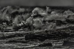 January Storm 2 (jessicalowell20) Tags: newengland gale january maineatlanticocean monochromatic northamerica rocks shore storm surf waves wind winter