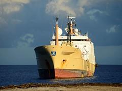 """FRANZISKA"" - IMO 8802997 (Rick Vince) Tags: franziska atlas imo8802997 fishingvessel fishingship fishfactory trawler puertodelaspalmas"