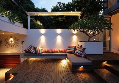 An outdoor room via the Cottage Cheese