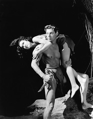 Maureen O'Sullivan and Johnny Weissmuller (Vintage-Stars) Tags: johnnyweissmuller maureenosullivan