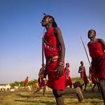 Maasai warriors dancing - Kenya