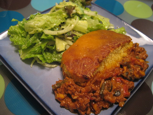 Tamale Pie with Guacamole Salad