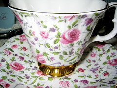 tea cup (amanky) Tags: pink roses usa cup floral oregon gold pretty purple bling teacup delicate babyshower hoodriver saucer 2007 cupsaucer nagreen october14 october2007 october142007