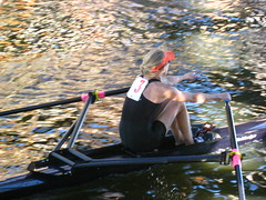 Rower (historygradguy (jobhunting)) Tags: people woman sports water boston river ma person boat athletics sitting head candid massachusetts newengland charles down crew frombehind sit rowing mass athlete seated