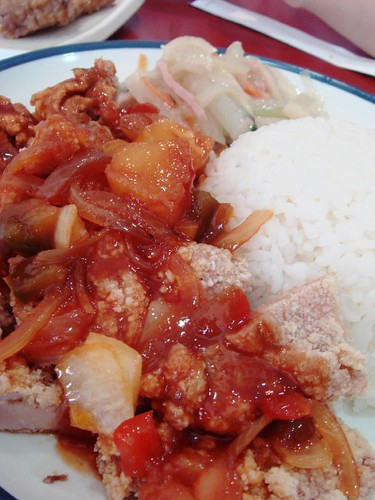 Sweet & Sour Chicken Chop rice