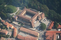 Carimate - The castle (_ Night Flier _) Tags: above travel sky italy panorama como green castle nature airplane landscape flying high view earth top aviation aerial fromabove historic fortification fortress brianza lombardia cessna skyview lombardy birdeye aeronautic carimate