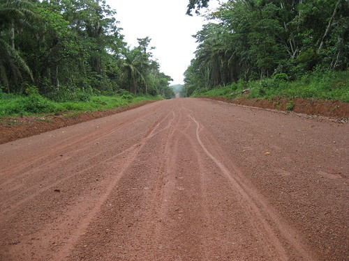 finished road before it erodes