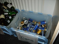 Look how much we drank! (petercrosbyuk) Tags: party halloween bottles booze cans 2007
