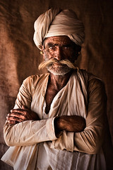 The Old Wanderer (mitchellk81) Tags: old india man costume shepherd traditional tribal moustache turban ethnic gujarat rabari whitehair kutchh
