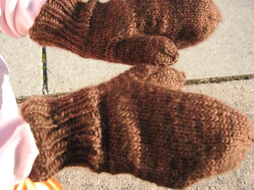 Malabrigo freestyle mittens