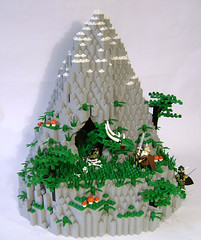 Beowulf's Last Battle (DARKspawn) Tags: mountain castle rock dragon lego serpent beowulf vikings wyrm