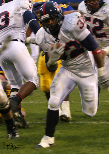 Richmond runningback Josh Vaughn