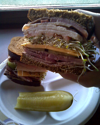 This is the sandwich they give you at Honeybaked Ham
