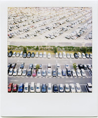 car park (masaaki miyara) Tags: car polaroid sx70 design photo graphic parking  landcamera  renault4   argylestreettearoom masaakimiyara