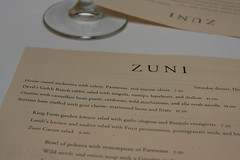 dinner with family at zuni.